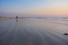 Broome - Western Australia (Marian Pollock (Weiler)) Tags: australia westernaustralia beach sunset girls sand vast pastels subtle waves rocks sanddunes reflections wet cablebeach