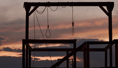 Sundown (magnetic_red) Tags: gallows noose rope sky sunset sundown americanwest hanging dramatic nevada