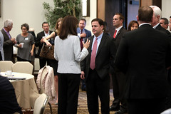 Doug Ducey with attendees (Gage Skidmore) Tags: doug ducey governor arizona ceo summit chief executive officer greater phoenix leadership 2016 marriott tempe buttes