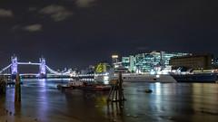 The Thames in London at Night (Andrew Stawarz) Tags: fujinonxf1024mmf4rois fujifilm london longexposure night thames xt1 hmsbelfast motoryachta superyacht philippestark