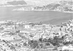18; Elevated view of Lambton - Circa 1940 (Wellington City Council) Tags: wellington historicwellington 1800s 1900s 1950s