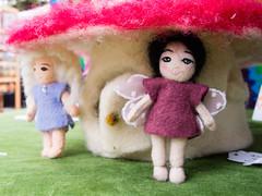 Dolls by Britt Liv King, Blomster Fiber Arts Design (marketkim) Tags: newproduct eugene oregon saturdaymarket festival artfair eugenesaturdaymarket artfestival