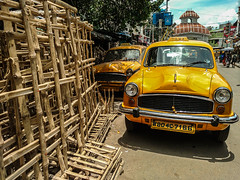 Notes from Kolkata - Page 49 (clestonicus) Tags: india kolkata outdoor travel westbengal color colour yellow cabs taxi vehicle transport public old rustic world charm four wheeler wheels motor ride