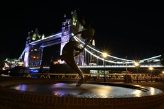 My first attempt at long exposure!  I'm really looking forward to getting out and practicing this more. (venesha83) Tags: towerbridge stkatherinesdock nightscene nightshot longexposure longexpo nightcolours nightphotography
