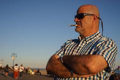 Cigarette Holder (dtanist) Tags: nyc newyork newyorkcity new york city sony a7 contax zeiss carlzeiss carl planar 45mm brooklyn coney island boardwalk cigarette smoke smoking holder sunglasses