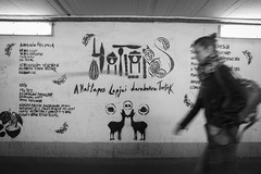 """Irny a bolt!"" (gaboracing) Tags: cake recipe train station hatlapos stemny recept art woman wall gra graffity"