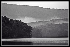 Lake Petit in the Mist (jhpen2) Tags: mountainlake blackandwhite nature
