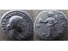 Lucilla denarius (Baltimore Bob) Tags: coin money ancient silver denarius rome roman empire imperial lucilla empress augusta venus