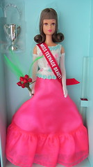 Francie 50th Anniversary Doll (Foxy Belle) Tags: doll anniversary barbie collector francie miss teenage beauty mod prom pink blue white roses