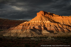 Drama at Old Paria (David Swindler (ActionPhotoTours.com)) Tags: escalante grandstaircase badlands sunset stormyskies oldparia clouds drama