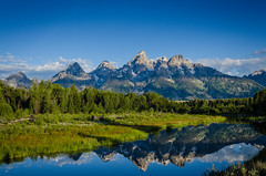 Grand Tetons Reflection (Russ Elmy Photography) Tags: photography jacksonhole grandtetonnps yellowstone landscape grandtetons wyoming mountain peak mountainpeek