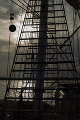 End of the day (KevPBur) Tags: canon650d canonkissx6i canonrebelt4i jst jubileesailingtrust stslordnelson sigma30mmf14exdchsm eveningsun rigging sailingboat sea silhoutte tallship water canon650dcanonkissx6icanonrebelt4i