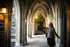 Lumos! (Baka_onna) Tags: selfportrait wand harrypotter hogwarts dukeuniversity gryffindor lumos