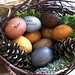 Easter Basket. Photo: Lisa Lazenby. Easter eggs dyed with natural pigments from foods at at egg-dying class held at Traditional Arts in Upstate New York in Canton.