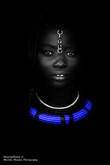 Lighting up (Marinka Massus Photography) Tags: africa travel portrait people blackandwhite bw photography eyes women desert tribal tribe namibia himba opuwo bwemotions mygearandme mygearandmepremium mygearandmebronze mygearandmesilver mygearandmegold