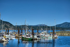 Cowichan Bay Marina - Cowichan Bay, BC, Canada (Toad Hollow Photography) Tags: ocean canada mountains reflection water marina landscape boats spring marine warm bc bright vibrant vancouverisland sail vista blueskies hdr houseboats cowichan cowichanbay greatphotographers rememberthatmomentlevel1