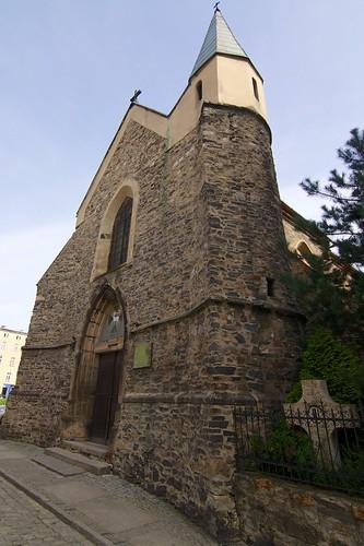 Kościół św. Barbary w Strzegomiu od południowego zachodu