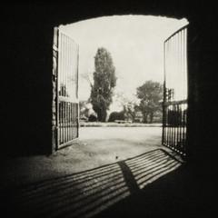 gates of dawn (fotobananas) Tags: liverpool pen olympus pinhole wanderlust ep1 wooltonwoods fotobananas wanderlustcameras pinwide