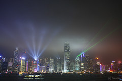 Symphony of Lights (tomosang R32m) Tags: night canon hongkong eos promenade 5d nightview  kowloon   tsimshatsui victoriaharbour avenueofstars  symphonyoflights   hk2013