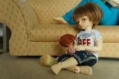 Playing dolls ( ResinMuse ) Tags: toys dolls bjd lewi recast littlefee