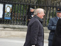 John Sergeant leaving Margaret Thatchers funeral (PaulWrightUK) Tags: uk england london church john cathedral stpauls funeral margaret railings margaretthatcher thatcher sergeant baronessthatcher maggiethatcher johnsergeant