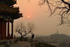 Soleil de Pkin - Beijing sun 2 (Solange B) Tags: china sunset sky sun mist tree fog soleil nikon couple afternoon beijing atmosphere ciel pollution jingshanpark arbre brouillard aprsmidi chine brume coucherdesoleil d800 beihai pkin atmosphre particulesfines collinedecharbon parcjingshan fineparticules solangeb
