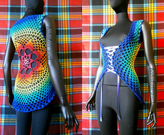 Crochet Summer Vest - Rainbow Tie Dye Effect Flower Mandala (babukatorium) Tags: pink blue red summer orange flower color green art net thread fashion rose yellow vintage circle star sweater rainbow colorful purple handmade lace top turquoise teal burgundy oneofakind crochet moda violet style mandala shades ombre retro shade bow gradient hippie ribbon vest psychedelic arcobaleno cardigan bohemian doily multicolor shrug octagon waistcoat gilet whimsical darkblue bolero haken häkeln emeraldgreen crochê ganchillo babypink colete chaleco royalblue fuxia uncinetto fattoamano かぎ針編み coprispalle tığişi horgolt uvgreen babukatorium