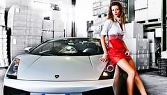 Lamborghini Gallardo in nice company (SSsupersports) Tags: cars girl spyder lamborghini gallardo carsandgirls