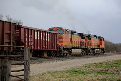 Work Train (JayLev) Tags: rock flood chillicothe herzog washout bnsf ballast trian