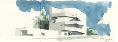Fundacao Ibere Camargo (Flaf) Tags: colour art water museum architecture pencil concrete drawing contemporary william architect porto florian alegre alvaro beton freie siza kentridge flaf afflerbach zeichnerei