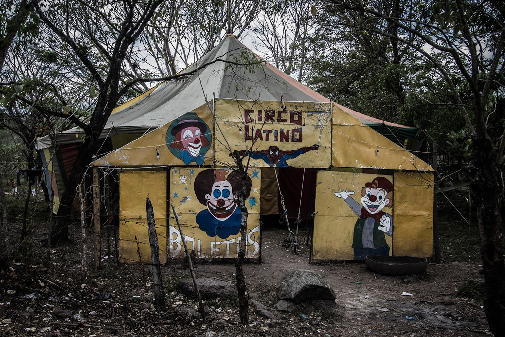Creepy Circus (AdamCohn) Tags scary gloomy circus clown spiderman tent haunted creepy nicaragua & The Worldu0027s Best Photos of scary and tent - Flickr Hive Mind