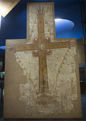 Late 10Th Century Cross From The Cathedral Of Faras In The National Museum Of Sudan, Khartoum, Sudan (Eric Lafforgue) Tags: africa history archaeology vertical museum photography ancienthistory ancient mural day cross northafrica soedan sudan religion paintings nobody nopeople indoors christianity ancientcivilization khartoum thepast soudan northernafrica traveldestinations colorimage  szudn sudo  northernsudan northsudan blackpharaohs   assouandam    xuan eri0291 maiestascrucis