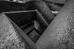 The Barbican (Scott Baldock) Tags: city blackandwhite bw london stairs spiral concrete nikon stair steps barbican escalera brutalism brutalist cityoflondon lightroom cityarchitecture d7000 scottbaldockphotography