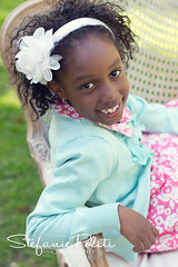 Desiree (njmommyof3boys) Tags: park portrait flower girl smile garden outside outdoors spring dress headband settee