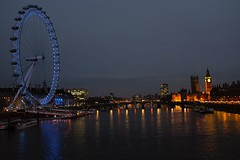 London Eye und Parlament