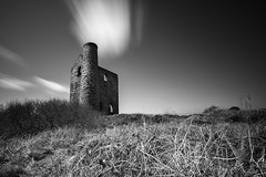 Giew Mine Engine House (MartynHall ) Tags: england bw white house black west st tin interestingness big interesting mine long exposure cornwall 10 sony south engine explore stop filter lee copper ives shaft franks density slv stopper cornish a77 neutral explored giew