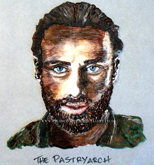 "Rick Grimes ""The Walking Dead"" Hand Painted Chocolate Piece Portrait Cake Topper! (The Pastryarch) Tags: portrait art painting walking dead zombie chocolate rick andrew sugar walker lincoln amc walkers grimes thewalkingdead andrewlincoln rickgrimes"