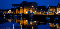 The Old Granary at night, Wells-next-the-Sea, Norfolk (CameraChic5*) Tags: reflection twilight harbour norfolk wells quay quayside