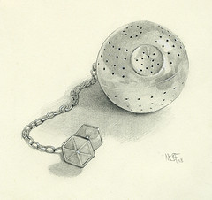 Drawing-A-Day: May 2nd (redmeg8) Tags: art metal pencil paper sketch starwars artist tea drawing metallic beverage series draw darthvader toned deathstar realism infuser realistic drawingaday redmeg8 alltaglich