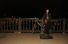 When I Remember Paris (waitingfortrain) Tags: paris france saxplayer parisatnight seineriver