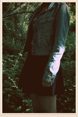 118/365 (TripleSix_Chris) Tags: trees green film leaves digital forest canon vintage photography antique skirt greenery 365 jeanjacket youngphotographers