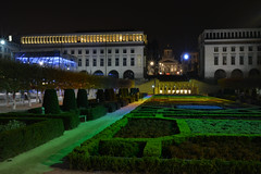 Le Mont des Arts de nuit. (Azariel01) Tags: light brussels art night belgium belgique bruxelles lumiere nuit palaisdescongres montdesarts 2013