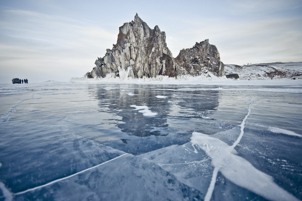 Frozen Olkhon Island