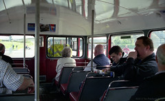 MBR29 Metrocentre Bus Rally - Inside RML2686 (HairyHippy) Tags: uk england film analog 35mm silver pentax unitedkingdom superia traditional gateshead fujifilm routemaster analogue dennis daimler chemical leyland asa400 bromide mesuper xtra tyneandwear metrocentre fujicolor atkinson aec busrally halide preservedbuses c41developer fujihunt