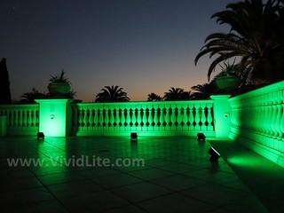 Special Event Lighting- Banister illumination by VividLite Wireless LED Lighting