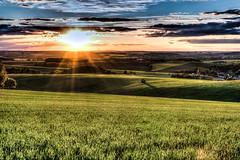 Sonnenuntergang ber Mittelsachsen (Fellux) Tags: sunset warm sonnenuntergang natur felder sachsen blau aussicht bume hdr gegenlicht erzgebirge frankenberg hausdorf mittelsachsen