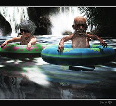 floating tube (Cutebaby Melody) Tags: evolution sl secondlife older ppl float reog