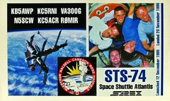 Out of This World Contact - Re-Edit of a Previous Post (Daryll90ca) Tags: radio space astronaut ham atlantis card qsl spaceshuttle mir iss hamradio amateurradio majortom internationalspacestation qslcard sarex spaceshuttleatlantis canadianastronaut chrishadfield sts74 va3oog kc5rnj