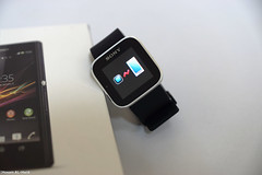Sony SmartWatch .. (Hosam AL-Hwid) Tags: light black sony watch saudi arabia accessories android apps a77 unboxing smartwatch hosam alhwid