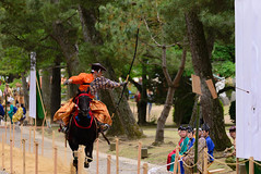 the art of shooting arrows on horsebackhorseback archery (Masashi bon) Tags: shrine ngc  taisha izumo yabusame       02 shrinenearby